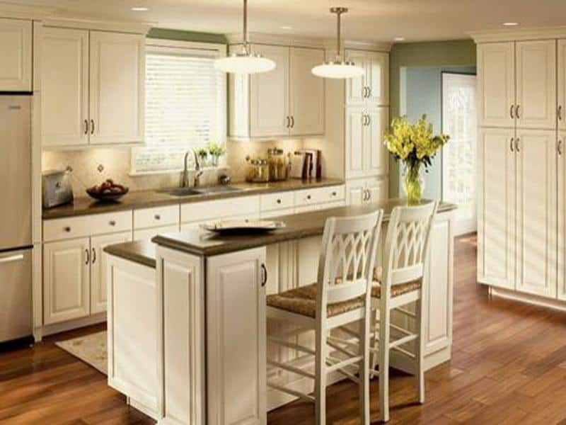 Dual-level kitchen island for two