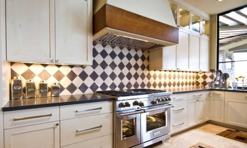 Harlequin backsplash tiles
