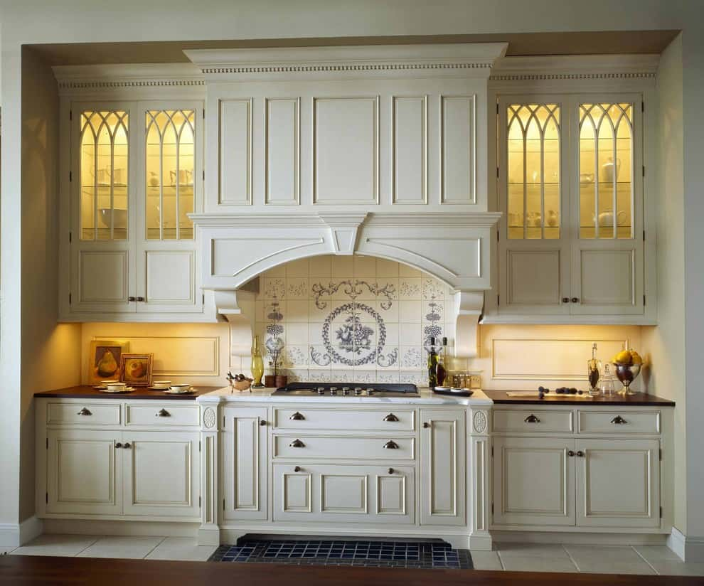 Historic elegance of the kitchen cabinet