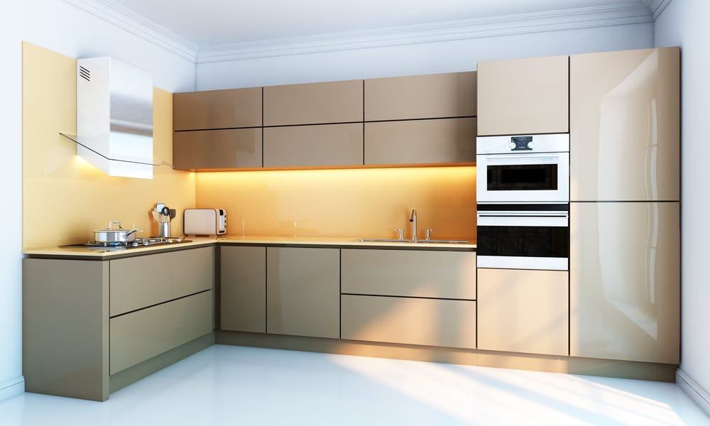 Install appliances into the cabinet