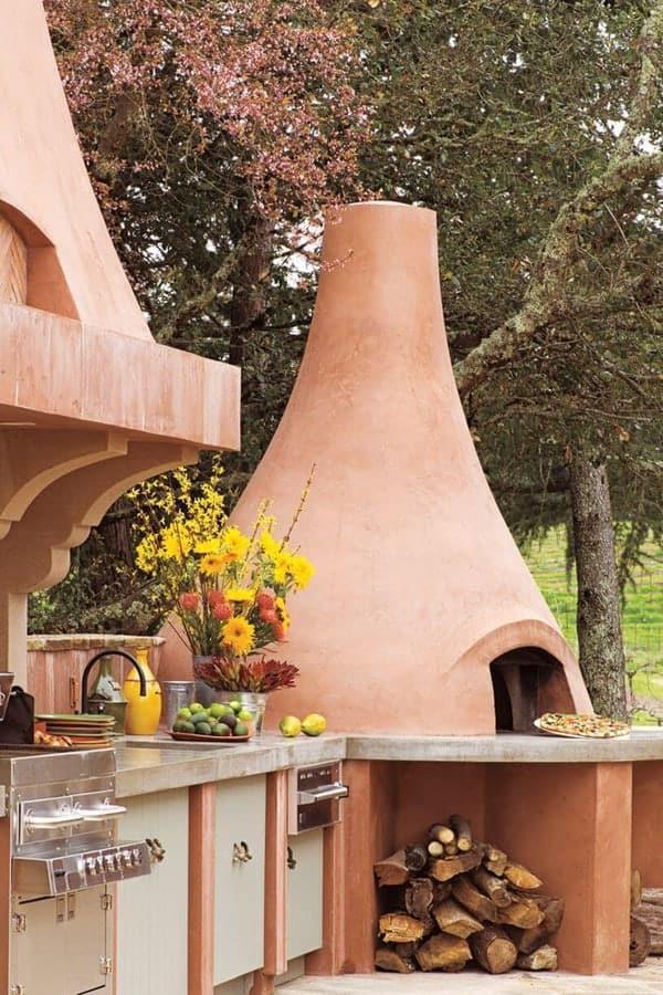 Italian countryside open kitchen