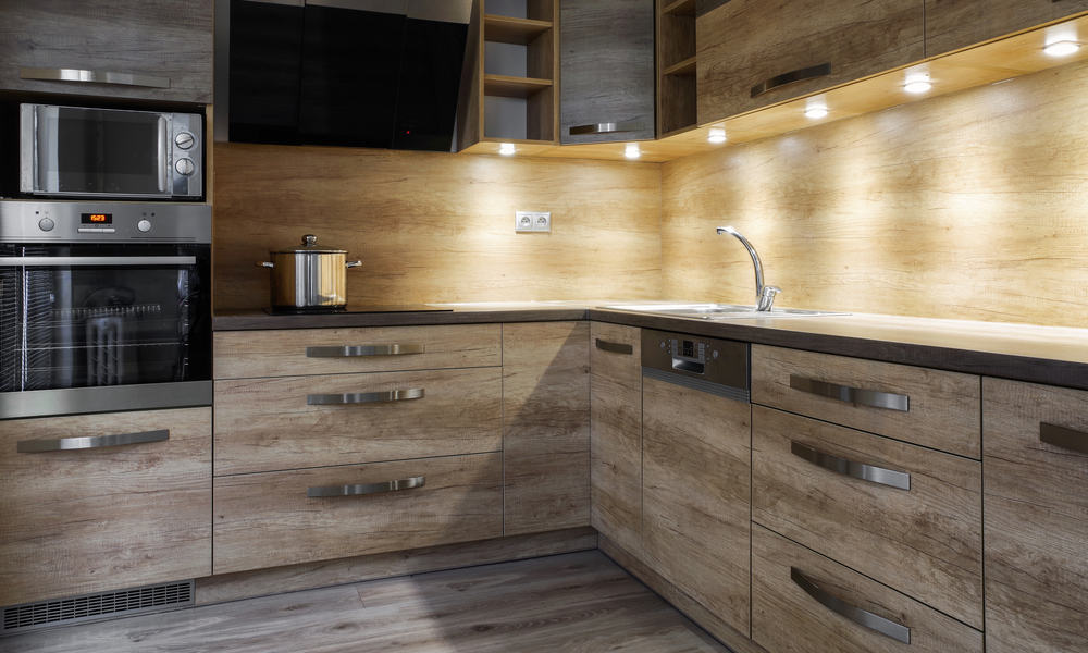 Kitchen cabinet with adequate lighting