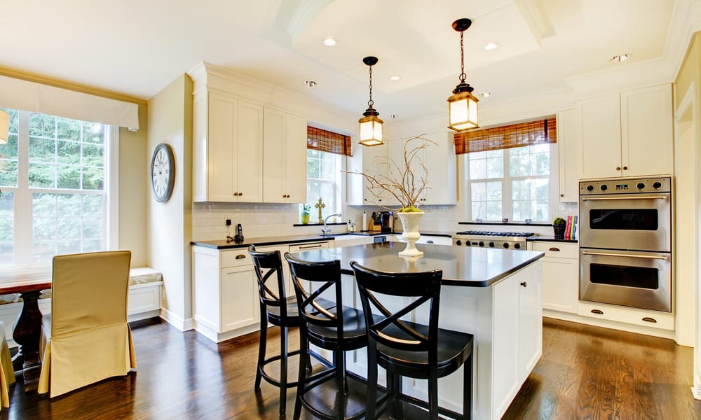 Kitchen island with a few seating