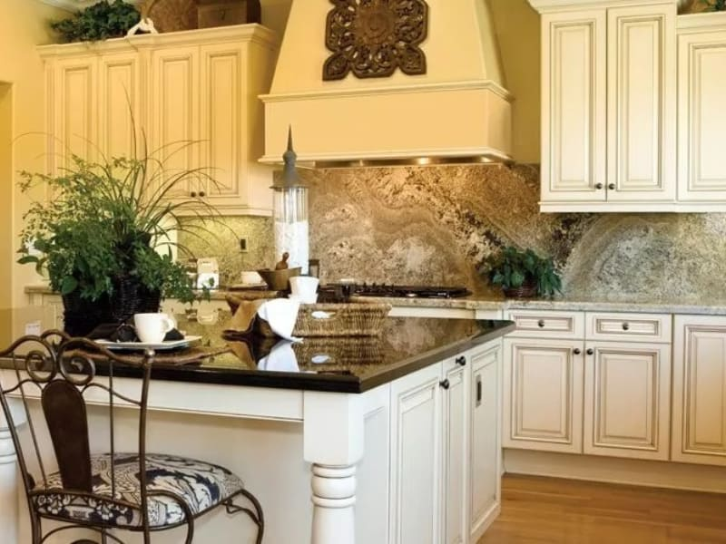 Kitchen island with seating for one person