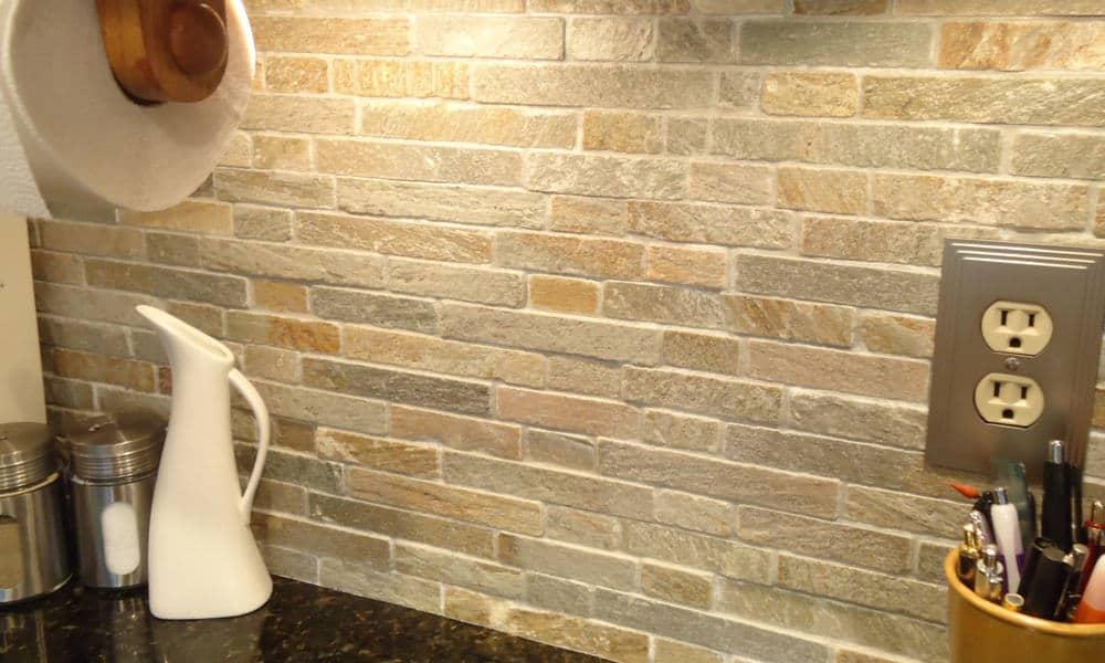 Natural stone backsplash tiles