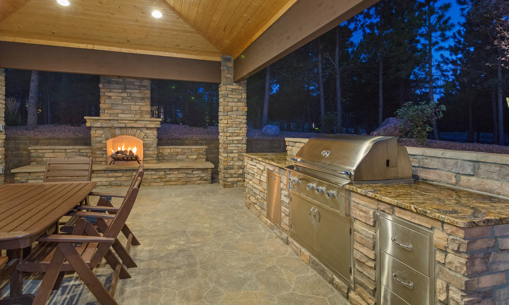 Outdoor stone kitchen