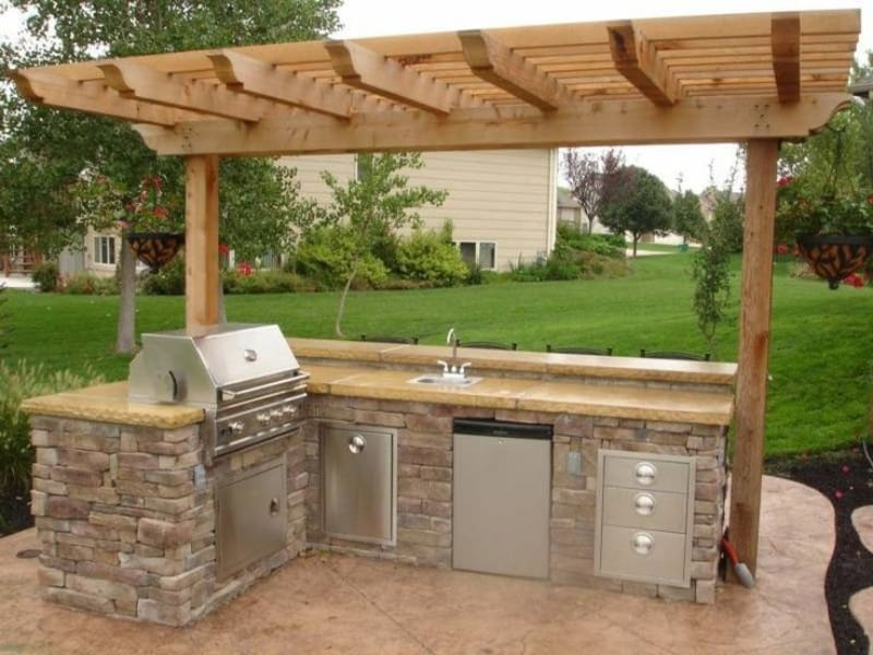 Patio as an outdoor kitchenette