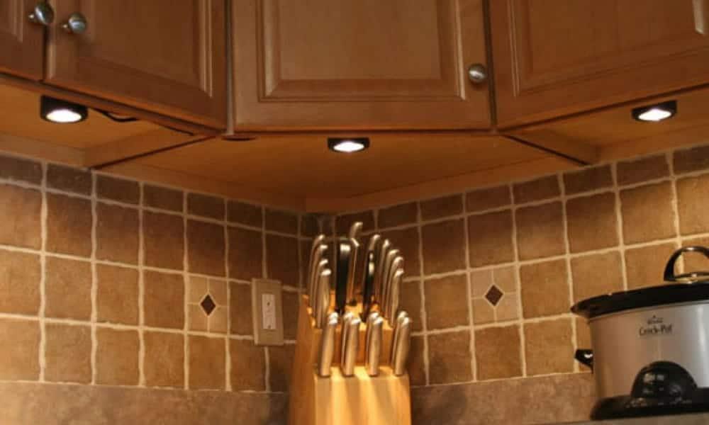 Puck under-cabinet kitchen lights
