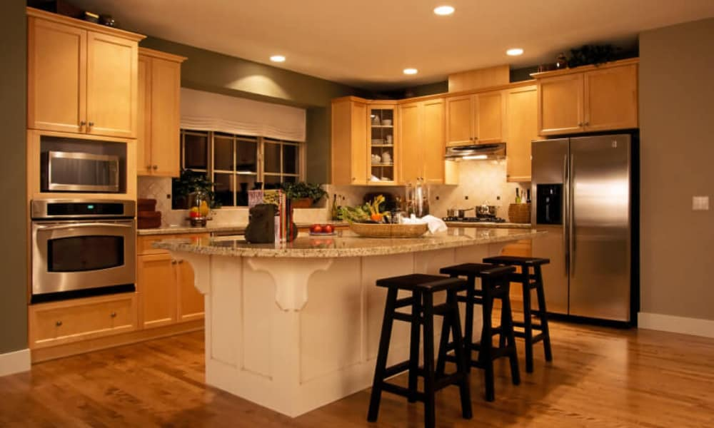 Recessed kitchen downlighting