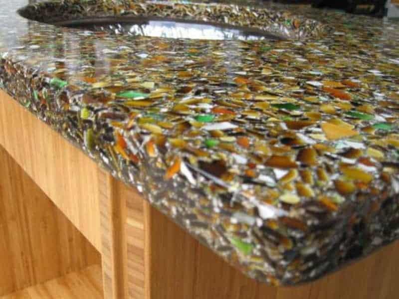 Resin countertop material