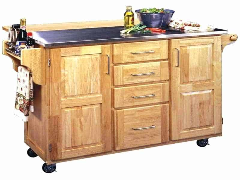 Rolling cart kitchen island