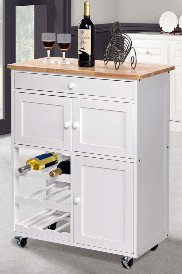 Rolling cart or kitchen cabinet
