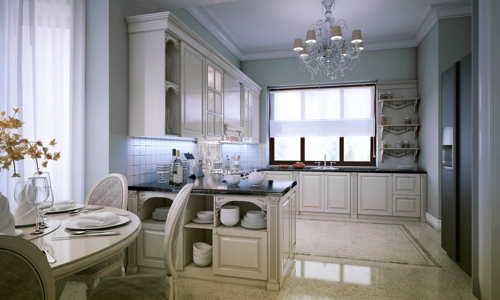 Silver kitchen chandelier