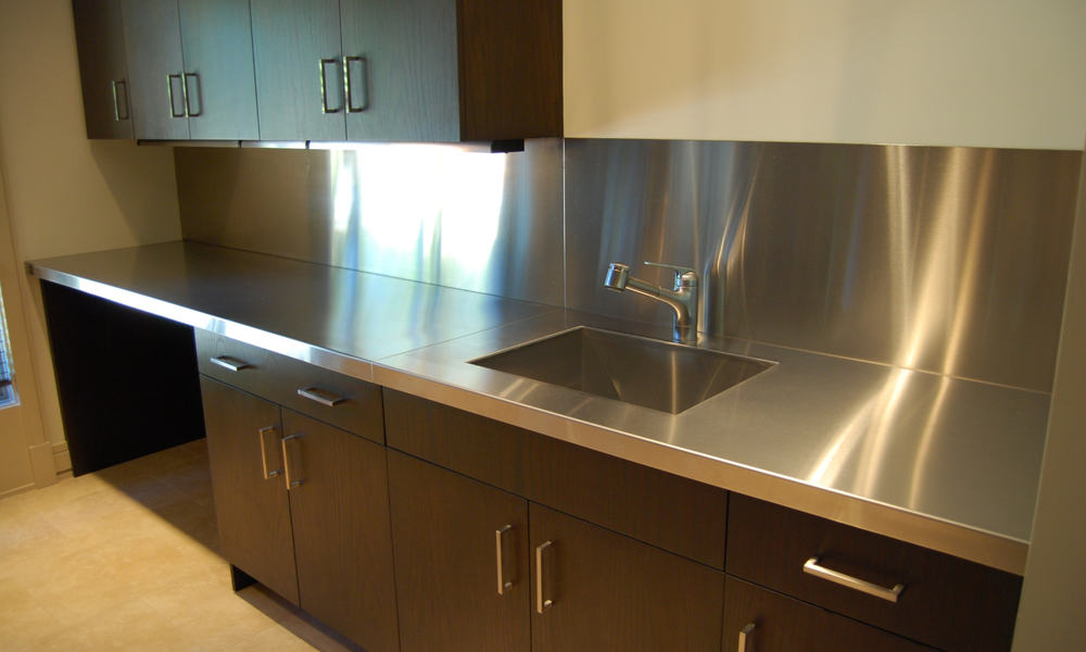 Stainless steel countertop material