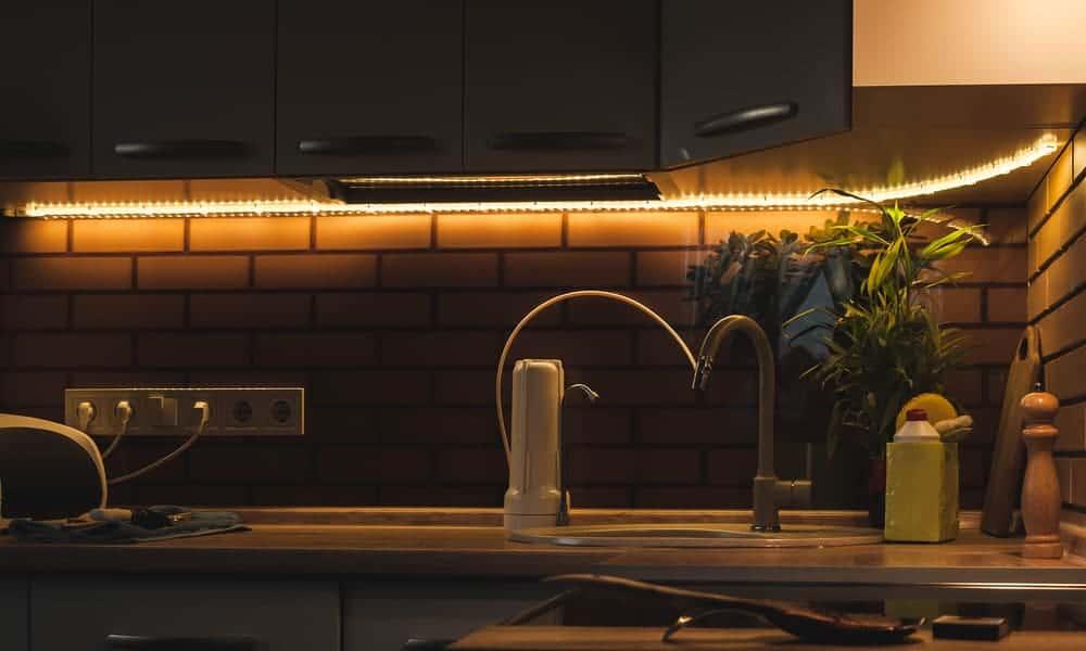 Strip under-cabinet kitchen lights