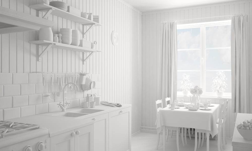 Too white kitchen