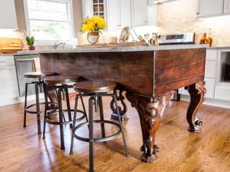 Transform something old into the kitchen island