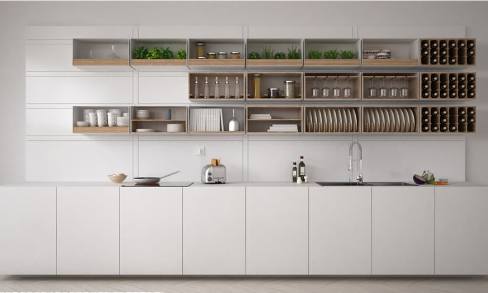 White, minimalistic, eco-friendly kitchen
