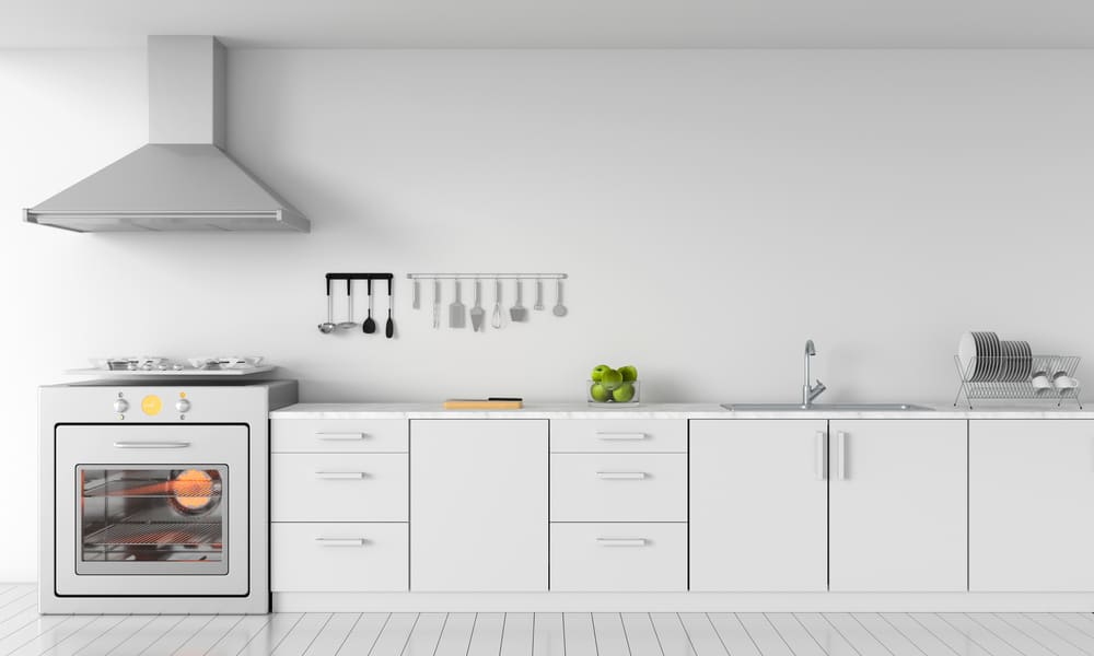 White one-piece kitchen