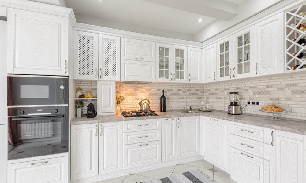 White wooden kitchen