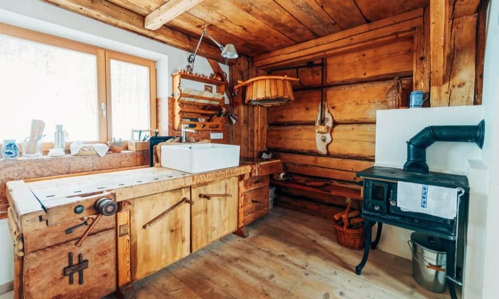 Wood countertop material
