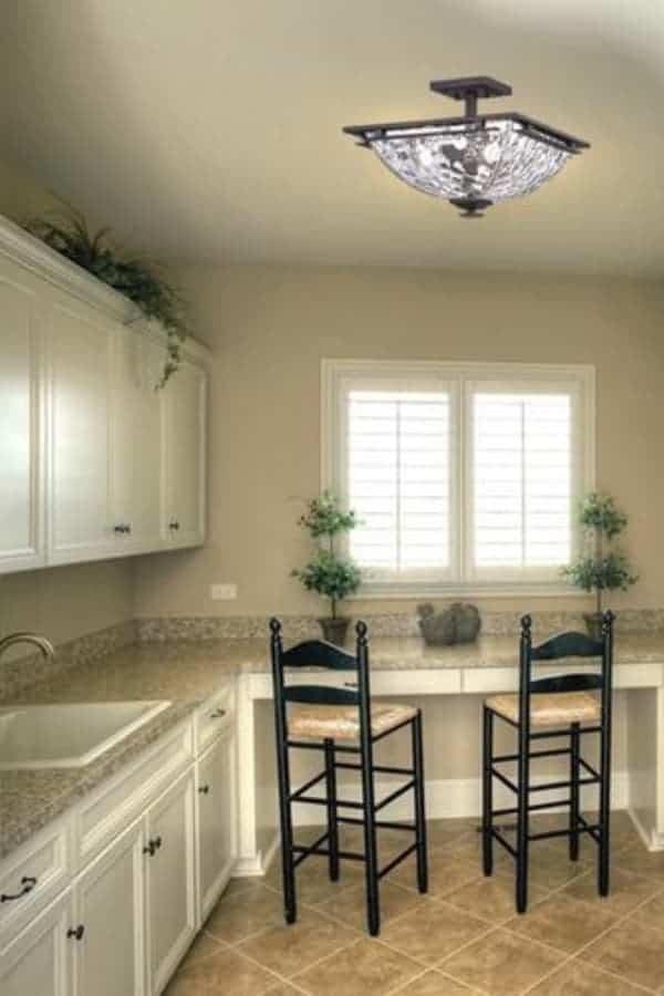 semi-flush kitchen lighting