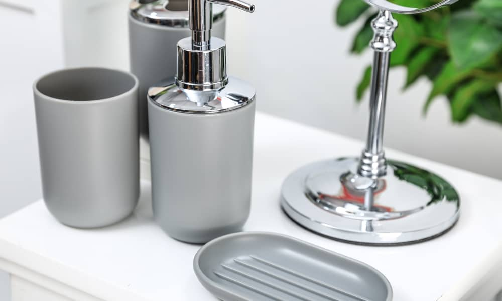 Glossy Gray Soap Dishes