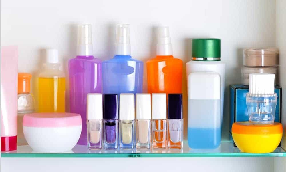 Glass Shelves for Cosmetics