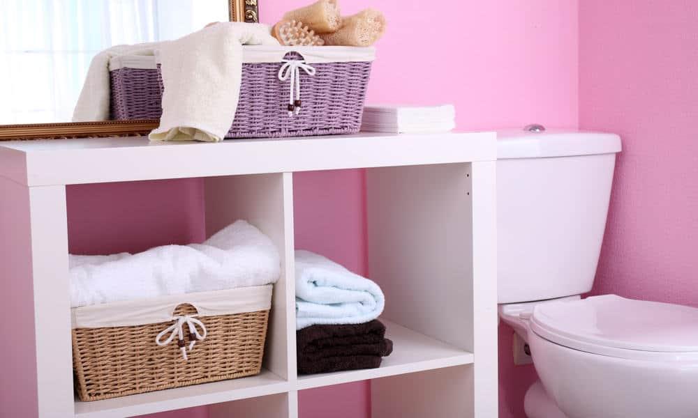 Simple White Shelves