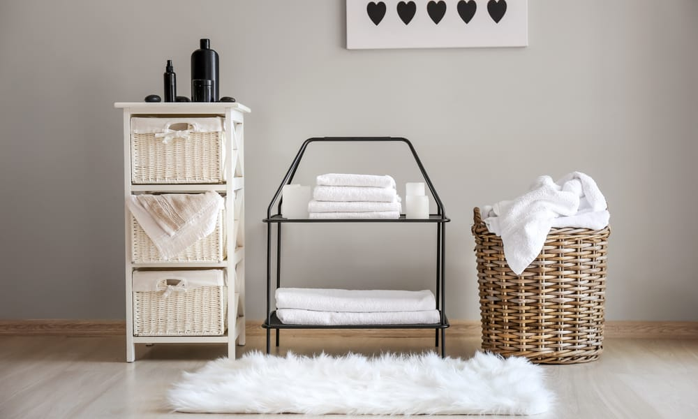 Wicker Baskets for Dirty Laundry