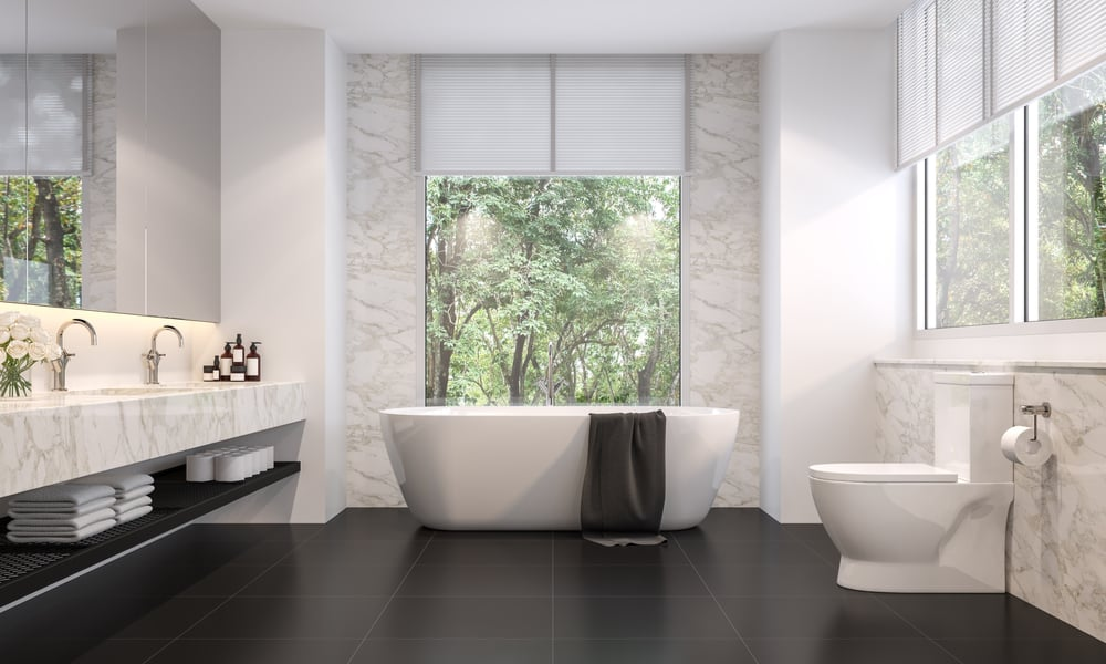 33 Black and White Bathroom Tile Ideas, Designs & Pictures