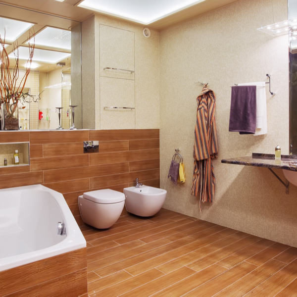33 Wood Tile Bathroom Ideas – Wood Tile Shower Designs