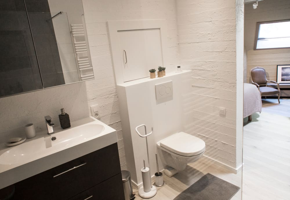 Built-in Toilet with Shelves
