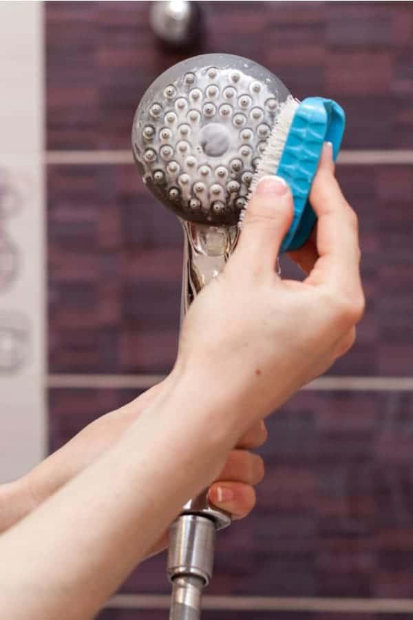 Clean a shower-head