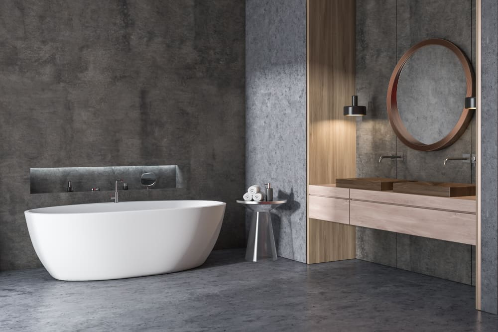 Concrete Wall Bathrooms