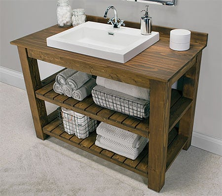DIY Make a Wood Bathroom Vanity