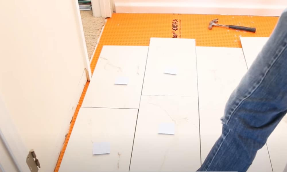 Decide on your tile layout