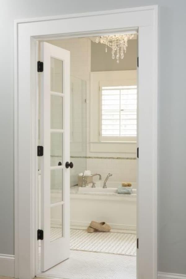 French bathroom doors