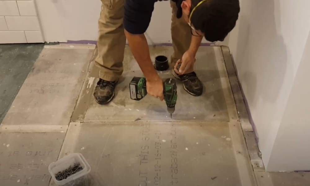 Lay the cement board