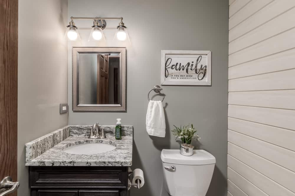 Shiplap Farmhouse Bathroom Walls
