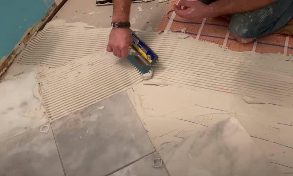 Tile the floor