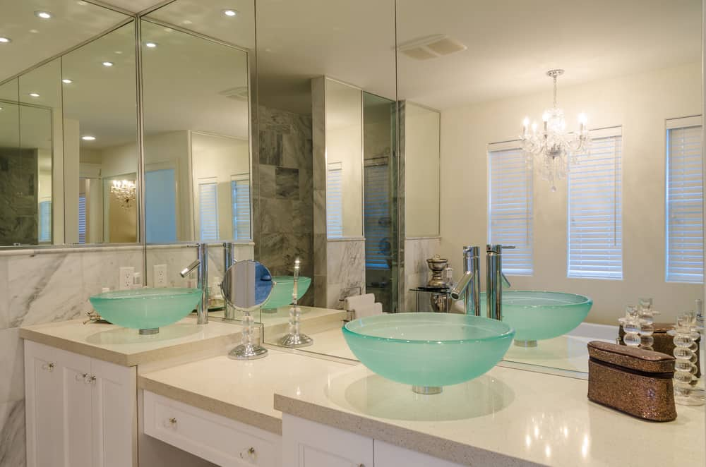 Turquoise Glass Sink