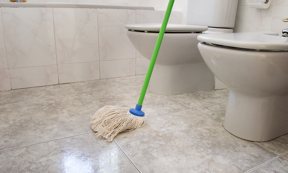 Vacuum and mop the floor