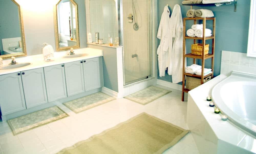 Wash shower mat and bathroom rug