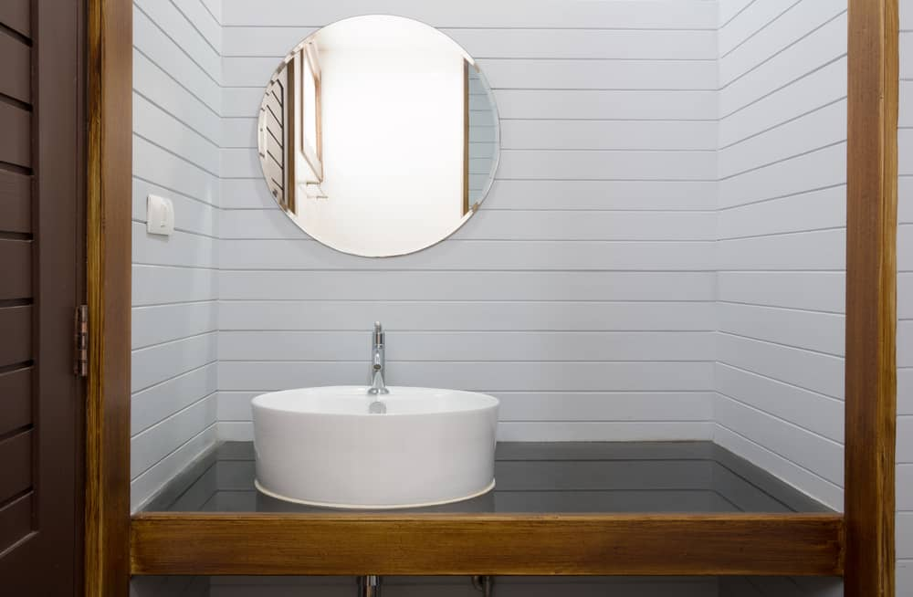 Wood-framed Powder Room