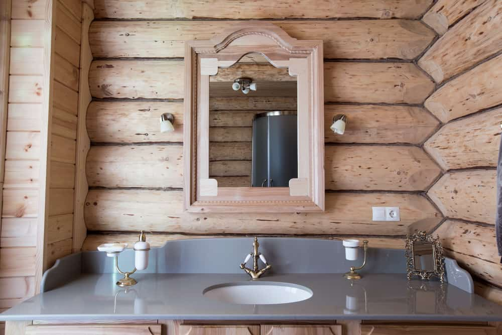 Wooden Farmhouse Bathroom Walls