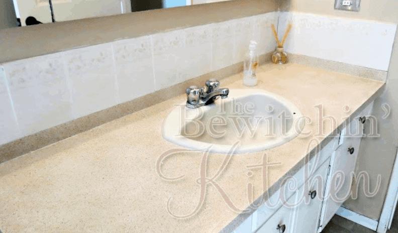 $25 DIY Bathroom Countertops