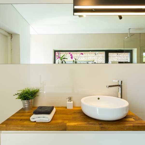 25 Homemade Wood Bathroom Countertop Plans You Can DIY Easily
