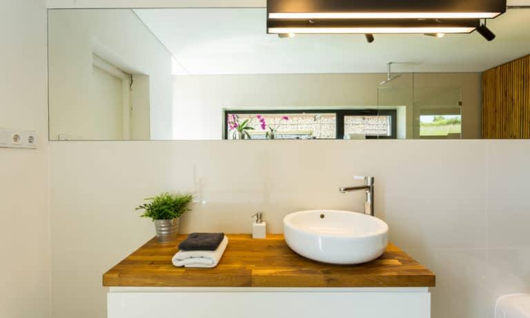 25 Homemade Wood Bathroom Countertop Plans You Can DIY Easily