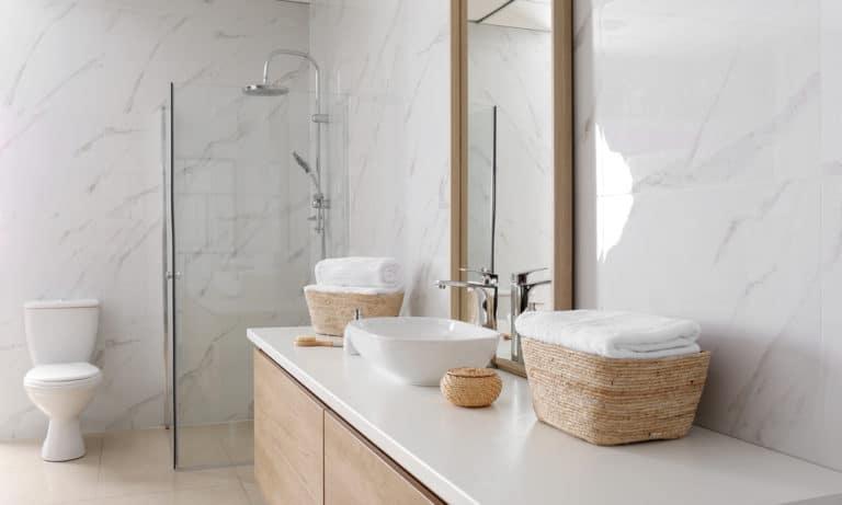 27 Homemade Bathroom Countertop Plans You Can DIY Easily